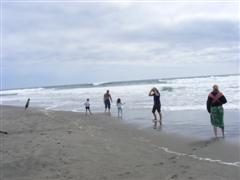 Dipping the toes in the Pacific Ocean