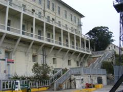 The apartments for the prison guards at Alcatraz