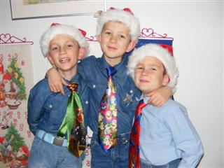 The boys in Christmass dress